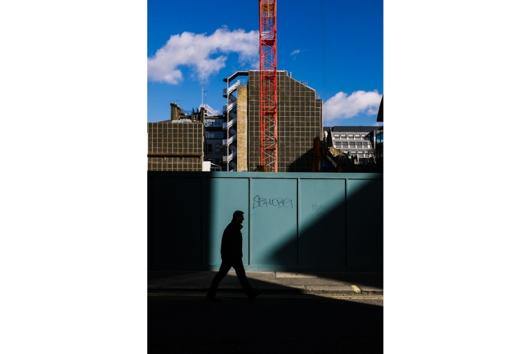 silhouette of man in london